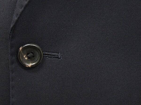 秋冬物 [Ermenegildo Zegna]ゼニア生地 TRAVELLER使用 スタイリッシュ2釦スーツ 濃紺無地 [YA体][A体][AB体] ロゴ入り裏地 EZS01