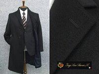 秋冬物[ロロピアーナ]カシミヤ100%日本製シングルチェスターコート[A体]スタイリッシュタイプ紺メンズ
