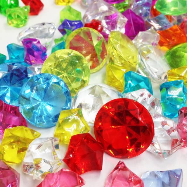 【アクリルアイス】カラー宝石 ダイヤ&アイスMIX (約1kg) 【あす楽対応】画像