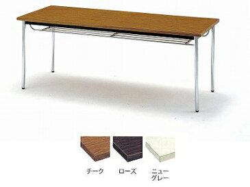 TOKIO【藤沢工業】 ミーティングテーブル(会議用テーブル) 角型天板・共貼り・棚付・角脚タイプ TD-1890TK W1800xD900xH700mm