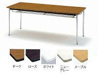 ミーティングテーブル(会議用テーブル)角型天板・エラストマエッジ・棚付・丸脚タイプTDS-0990TMW900xD900xH700mm