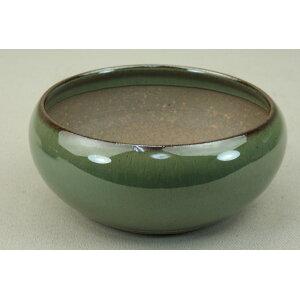 [Iyojien] [وعاء بونساي] وعاء Koishiwara / وعاء تايكو (صغير) [طلاء زجاجي أخضر] [11 سم يسارًا ويمينًا] [وعاء صغير وعاء صغير]