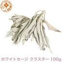 ロビンの森 ホワイトセージ 100g 高品質 クラスター( 葉 & 枝 )浄化 用 カリフォルニア 産