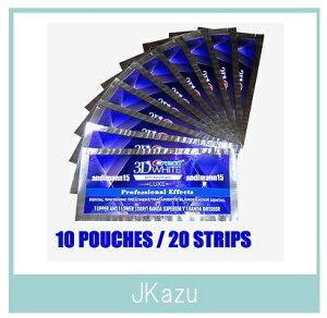 訳あり【送料無料】クレスト 3D ホワイトストリップス プロフェッショナル エフェクツ 10パック‐20枚入 (Crest 3D White Whitestrips Professional Effects) 10回分 <0301楽天カード分割>【02P11Mar16】