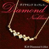 ダイヤモンドラインネックレス0.25ct