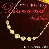 ダイヤモンドラインネックレス0.30ct