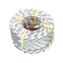 スタティックロープΦ11×50m(白)1巻国内生産のスタティックスロープ欧州基準EN1891と全米防火協会NFPA1983における救助用ロープの要求特性に準拠。スタックスロープスタックロープ工事現場での荷揚げ荷上げつり袋吊袋