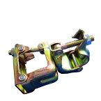 角100×兼用の角丸クランプ(自在)【12個セット】100角パイプ用クランプ。兼用部分はΦ48.6とΦ42.7単管パイプに対応。橋梁足場関連様、金属加工工場様、特殊金物製造業様必見。競技場手摺・配線等に(角クランプ/角丸クランプ)(津軽)