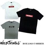 2017新作 WILD THINGS BOX LOGO T-SHIRT ワイルドシングス ボックスロゴ Tシャツ WILDTHINGS WT17035N