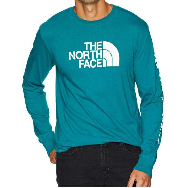 ノースフェイス長袖TシャツメンズハーフドームブルーグリーンT-ShirtTシャツTheNorthFaceMen'sWell-Lo