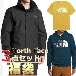 ノースフェイス 福袋 ジャケット Tシャツ パーカー メンズ 3点セット USAモデル THE North Face 送料無料 メンズ ブランド 福袋 お得な半袖Tシャツ、スウェットパーカー、ジャケット3点セット福袋 2021 取寄