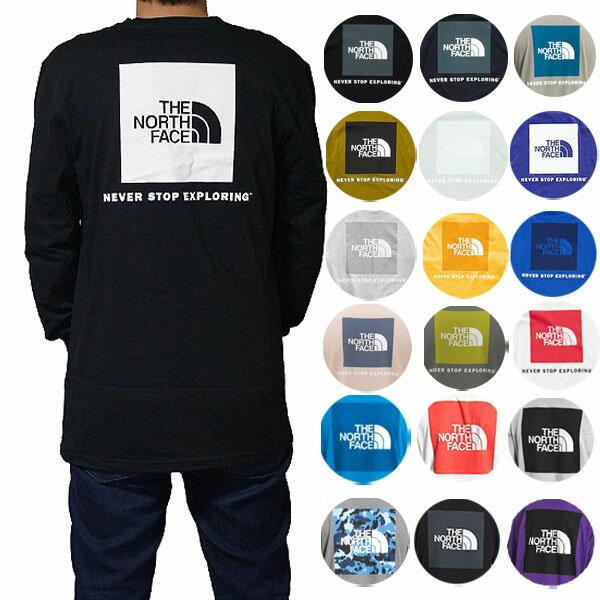 ノースフェイスTシャツメンズ長袖TシャツバックプリントボックスロゴロンTTシャツ大きいサイズTheNorthFaceMen'sN