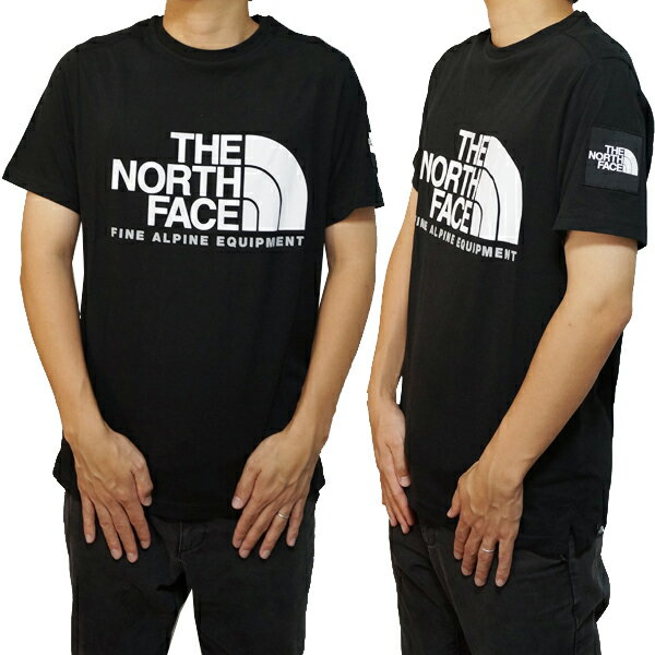 ノースフェイスTシャツメンズ半袖ブラックアルパインロゴTシャツTheNorthFaceAlpineLogoT-ShirtTNFB