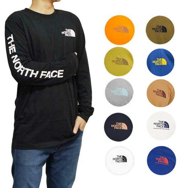 ノースフェイス長袖Tシャツ袖ロゴメンズヒットロングスリーブTシャツロンT大きいサイズTheNorthFaceMen'sSleev