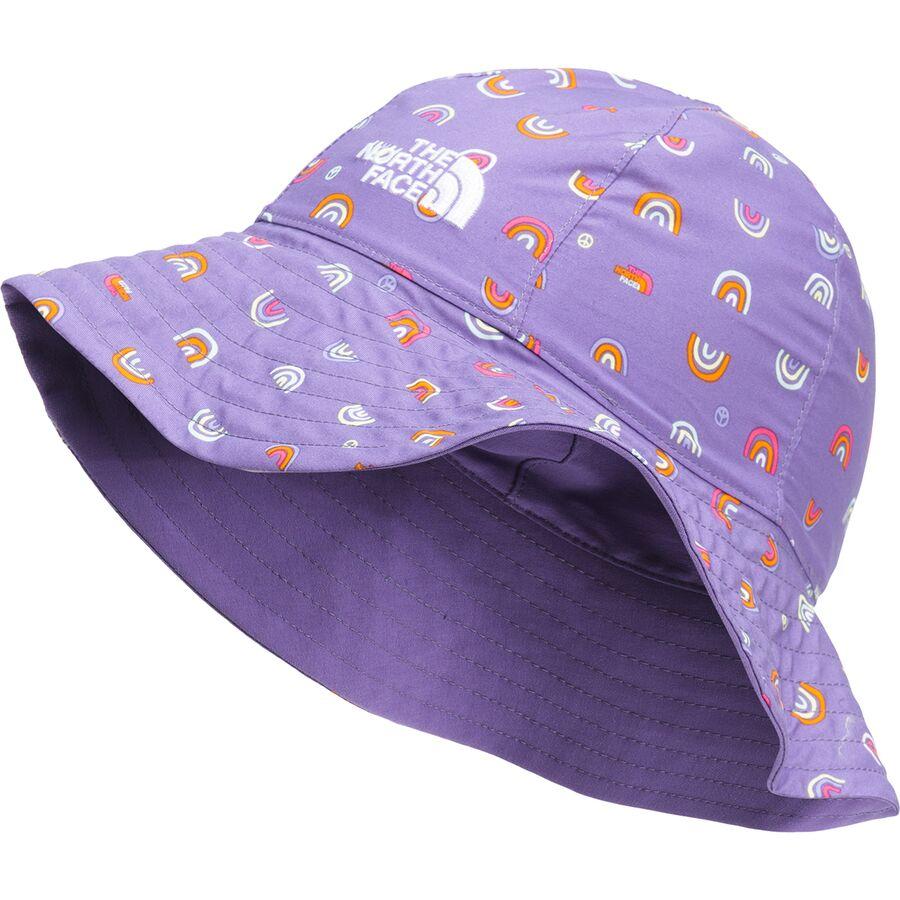 帽子, ハット  The North Face Littles Brimmer Hat Kids Pop Purple Rainbows End Print