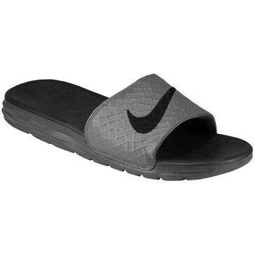 (取寄)NIKE ナイキ サンダル メンズ ベナッシ ソーラーソフト スライド 2 Nike Men's Benassi Solarsoft Slide 2 Dark Grey Black 【コンビニ受取対応商品】