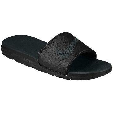(取寄)NIKE ナイキ サンダル メンズ ベナッシ ソーラーソフト スライド 2 Nike Men's Benassi Solarsoft Slide 2 Black Anthracite 【コンビニ受取対応商品】