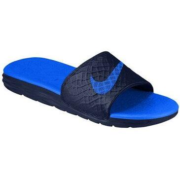(取寄)NIKE ナイキ サンダル メンズ ベナッシ ソーラーソフト スライド 2 Nike Men's Benassi Solarsoft Slide 2 Midnight Navy Lyon Blue 【コンビニ受取対応商品】