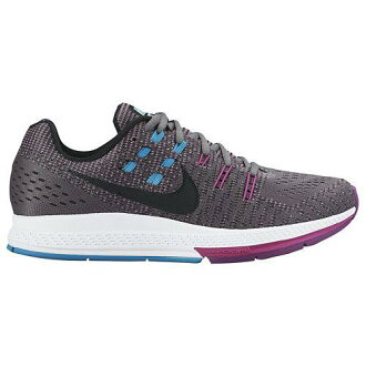 (索取)NIKE耐吉女士跑步鞋運動鞋空氣變焦距鏡頭結構19 Nike Women's Air Zoom Structure 19 Cool Grey Fuchsia Flash Copa Black