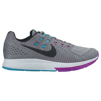 (索取)NIKE耐吉女士跑步鞋運動鞋空氣變焦距鏡頭結構19 Nike Women's Air Zoom Structure 19 Cool Grey Fuchsia Flash Copa Black[支持便利店領取的商品]