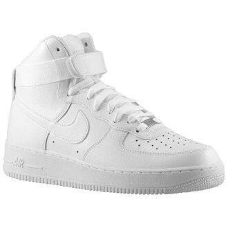 (索取)NIKE耐吉人空軍1高運動鞋Nike Men's Air Force 1 High White White[支持便利店領取的商品]