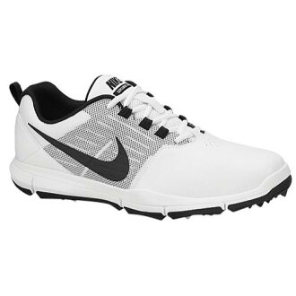 (索取)NIKE耐吉人資源管理器SL高爾夫球鞋Nike Men's Explorer SL Golf Shoe White Pure Platinum Black