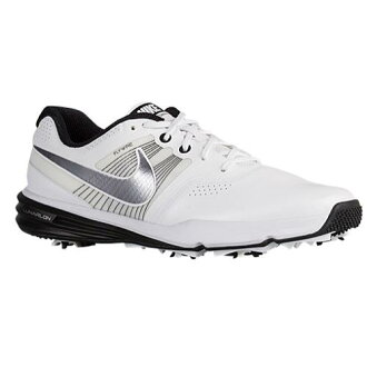 (索取)NIKE耐吉人月神命令高爾夫球鞋Nike Men's Lunar Command Golf Shoe White Black Metallic Cool Grey