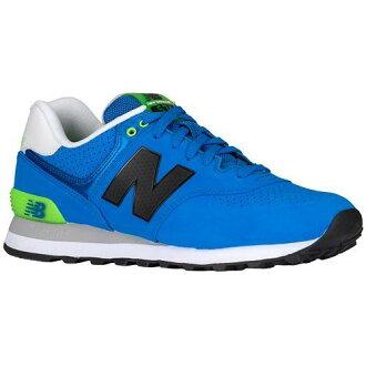 (索取)新平衡人574 New balance Men's 574 Sonar Blue Bright Green[支持便利店領取的商品]