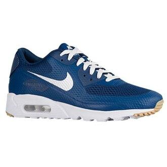 (索取)NIKE耐吉人空氣最大90超跑步鞋運動鞋大的尺寸Nike Men's Air Max 90 Ultra Coastal Blue White Coastal Blue[支持便利店領取的商品]