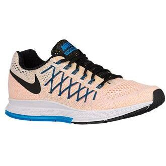 (索取)NIKE耐吉人空氣變焦距鏡頭飛馬座32運動鞋跑步鞋Nike Men's Air Zoom Pegasus 32 White Laser Orange Photo Blue Black
