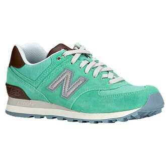 (索取)新平衡女士運動鞋574 New balance Women's 574 Aqua Chalk Seafoam
