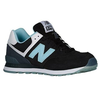 (索取)新平衡人574休閒運動鞋New balance Men's 574 Black Blue