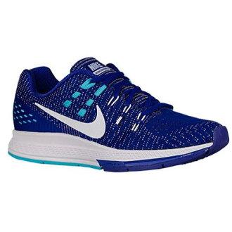 (索取)NIKE耐吉女士空氣變焦距鏡頭結構19訓練鞋跑步鞋Nike Women's Air Zoom Structure 19 Concord Gamma Blue Black White
