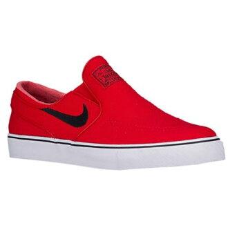 (索取)NIKE耐吉人S B變焦距鏡頭加諾滑雪女式無袖內衣開運動鞋滑板Nike Men's SB Zoom Janoski Slip On University Red White Black[支持便利店領取的商品]