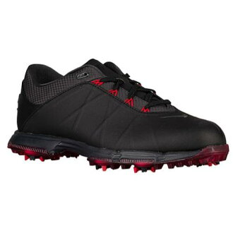 (索取)NIKE耐吉人月神火高爾夫球鞋Nike Men's Lunar Fire Golf Shoes Black Anthracite University Red