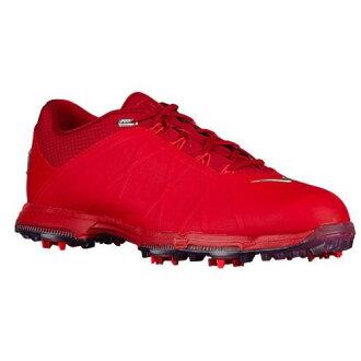 (索取)NIKE耐吉人月神火高爾夫球鞋Nike Men's Lunar Fire Golf Shoes University Red Metallic Silver Bright Crimson