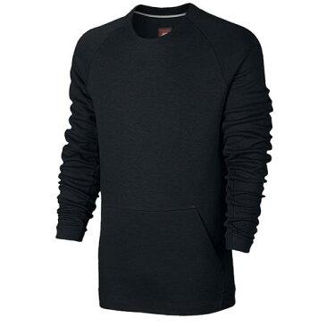 (取寄)Nike ナイキ メンズ NSW テック フリース クルー 長袖 Tシャツ Nike Men's NSW Tech Fleece Crew Black Black 【コンビニ受取対応商品】