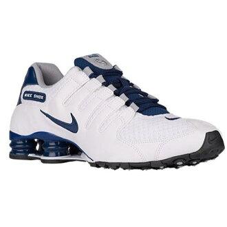 (索取)NIKE耐吉人打擊運動鞋NZ運動鞋跑步鞋Nike Men's Shox NZ White Coastal Blue Wolf Grey Coastal Blue[支持便利店領取的商品]