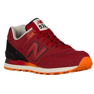 (索取)新平衡人574 New balance Men's 574 Red Black Orange[支持便利店領取的商品]