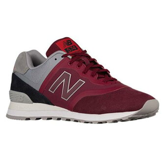 (索取)新平衡人574 New balance Men's 574 Red Grey