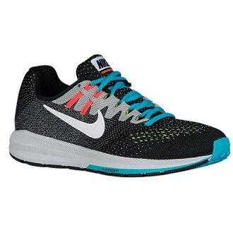 (索取)耐吉女士空氣變焦距鏡頭結構20 Nike Women's Air Zoom Structure 20 Black White Bright Mango Gamma Blue
