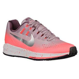 (索取)耐吉女士空氣變焦距鏡頭結構20 Nike Women's Air Zoom Structure 20 Plum Fog Metallic Silver Bright Mango Purple