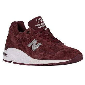 (索取)新平衡人990 V2 New balance Men's 990 V2 Burgundy Silver