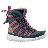 (取寄)ナイキ レディース ローシ ワン ハイ スニーカーブーツ Nike Women's Roshe One Hi Sneakerboot Dark Armory Blue Gold Suede Linen Pink Foil