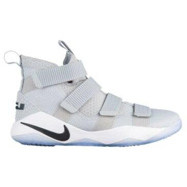 (取寄)Nike ナイキ メンズ スニーカー バッシュ レブロン ソルジャー 11 バスケットシューズ Nike Men's LeBron Soldier 11 Wolf Grey Black White