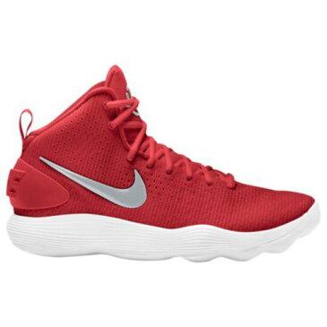 (取寄)Nike ナイキ レディース スニーカー バッシュ リアクト ハイパーダンク 2017 ミッド バスケットシューズ Nike Women's React Hyperdunk 2017 Mid University Red Metallic Silver White