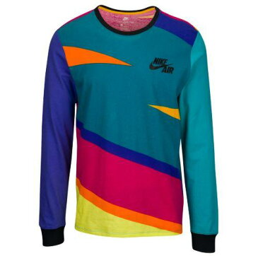(取寄)ナイキ メンズ オーバーサイズド フューチュラ 90's スリーブ ロンT Nike Men's Oversized Futura 90's Long Sleeve Blustery Persian Vilet