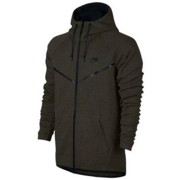 (取寄)ナイキ メンズ パーカー テック フリース フル ジップ ウインドランナー ジャケット Nike Men's Tech Fleece Full Zip Windrunner Jacket Sequoia Heather Black