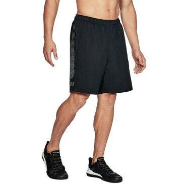 (取寄)アンダーアーマー メンズ ウーブン グラフィック ショーツ Under Armour Men's Woven Graphic Shorts Black Zinc Gray