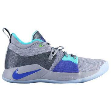 【クーポンで最大2000円OFF】(取寄)ナイキ メンズ バッシュ PG 2 ポール ジョージ バスケットシューズ Nike Men's PG 2 Paul George Pure Platinum Neo Turq Wolf Grey Aurora Green